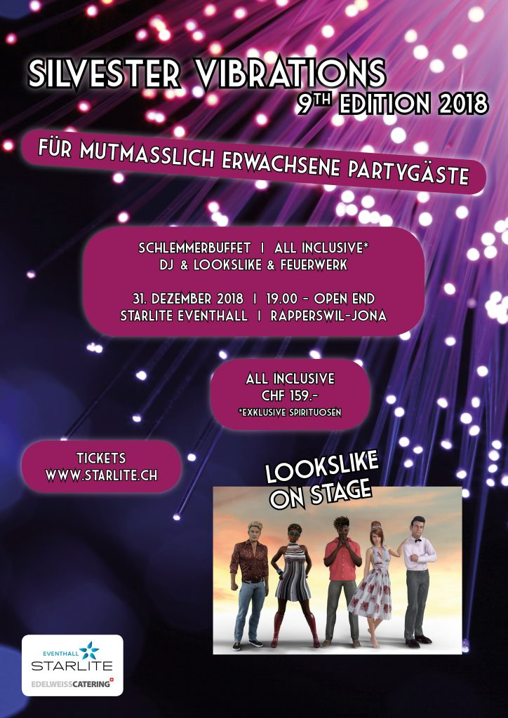 silvester neujahr silvesterparty neujahrsparty new years eve rapperswil jona zürichsee seedamm plaza liveband live band dj